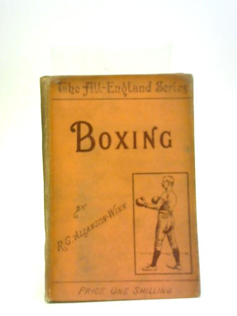Boxing By R G Allanson-Winn