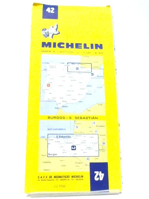 Michelin Map 42 Burgos - S. Sebastián by Michelin