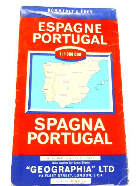 Espagne Portugal. Spagna Portugal by Kummerly & Frey