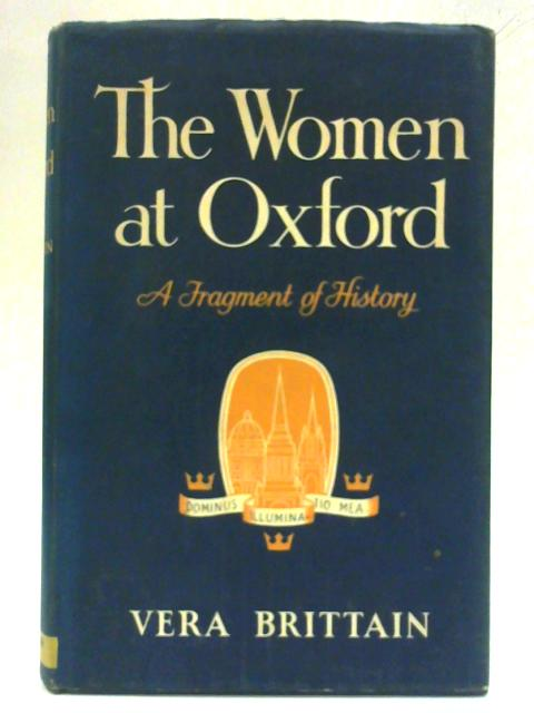The Woman At Oxford By Vera Brittain