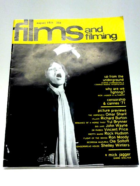 Films and Filming Volume 17 No.11 Issue No.203 August 1971 By Various