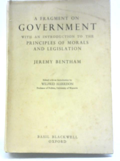 A Fragment of Government By Jeremy Bentham