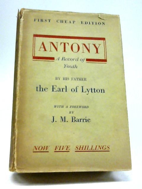 Antony By Earl of Lytton