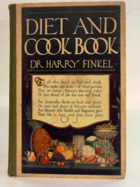 Diet and Cook Book By Harry Finkel