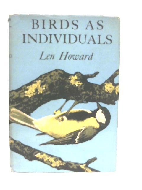 Birds as Individuals By Len Howard