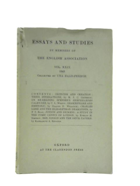 Essays and Studies by Members of the English Association, Volume XXIX by Una Ellis-Fermor