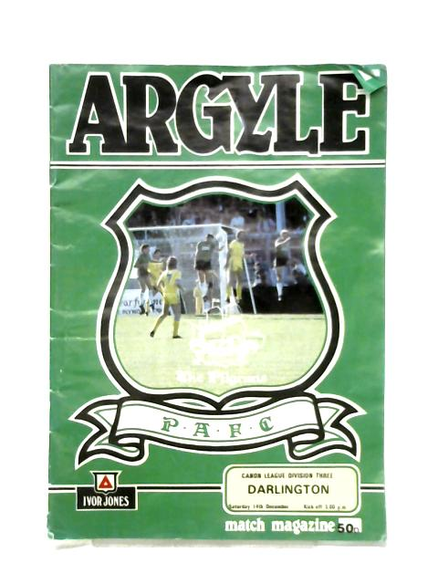 Plymouth Argyle - Signed match Programme - Carlisle United, December 14th 1985 By Anon