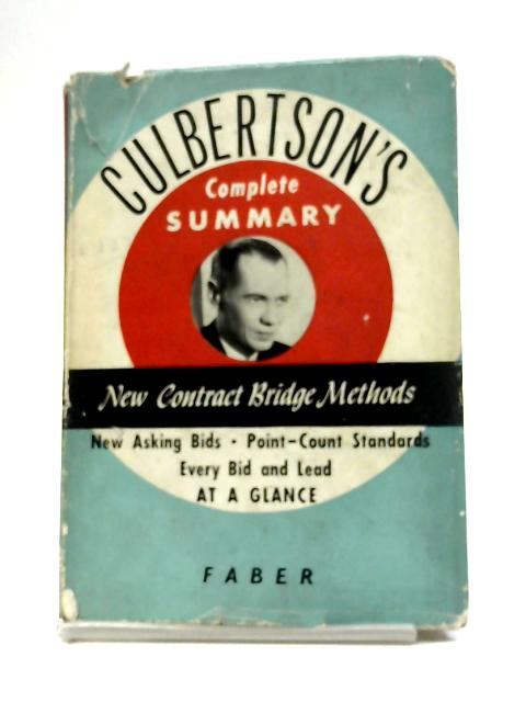 Culbertsons New Contract Bridge Methods By Ely Culbertson