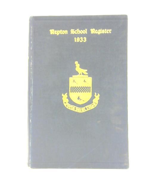 Repton School Register By H. C. Hayward & Lt. Col. N. Strickland