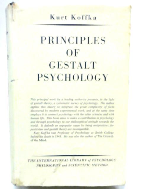 Principles of Gestalt Psychology by K Koffka