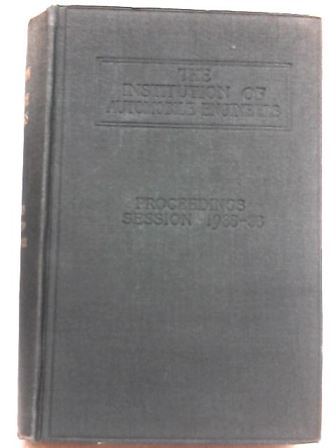 Proceedings of the Session 1935-36 Volume XXX