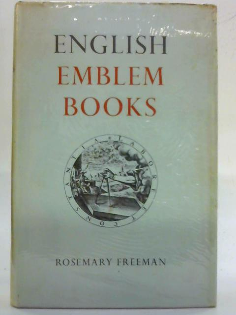 English Emblem Books By Rosemary Freeman