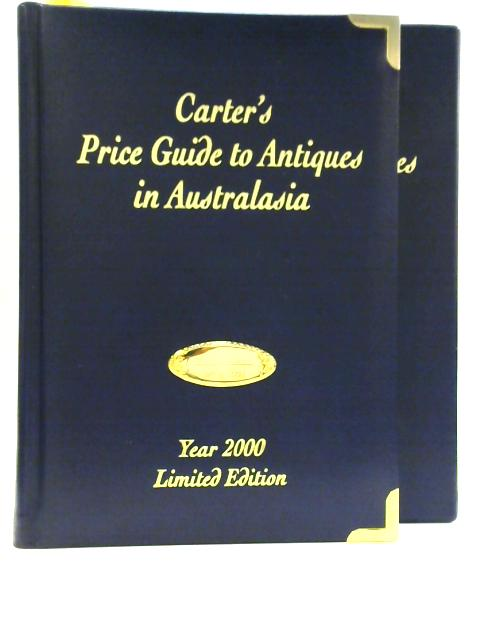 Carter's Price Guide to Antiques in Australasia 2000 by Alan Carter