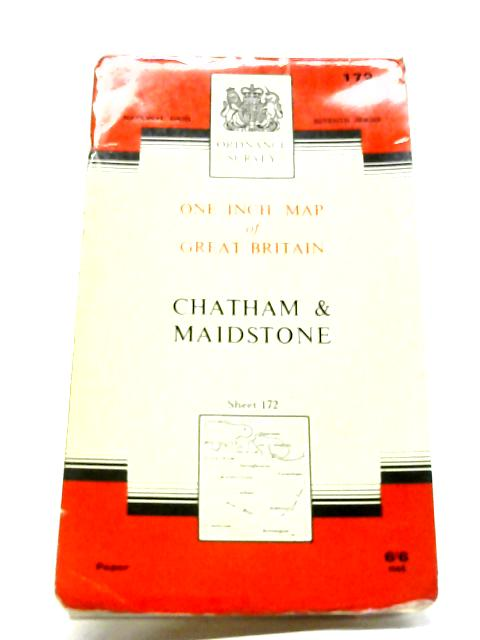 Chatham & Maidstone. One-Inch Map Of Great Britain Sheet 172. 1:63360 Seventh Series By Ordnance Survey