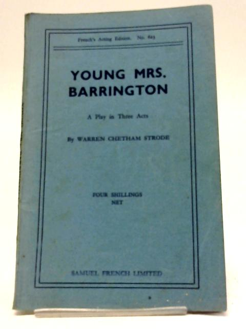 Young Mrs Barrington By W.C. Strode