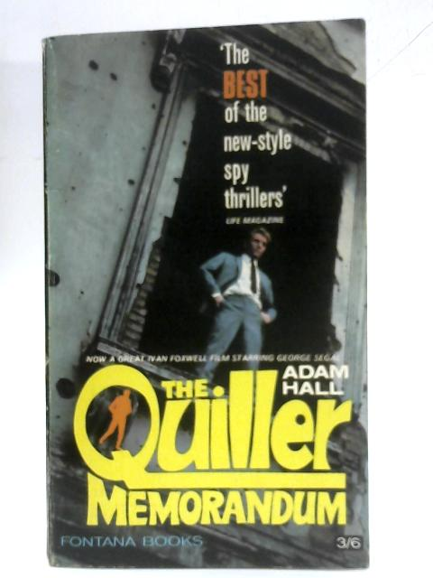 The Quiller Memorandum by Adam Hall