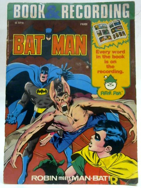 Batman. Robin meets Man-Bat. Book & Record Circa 1976. By Anon