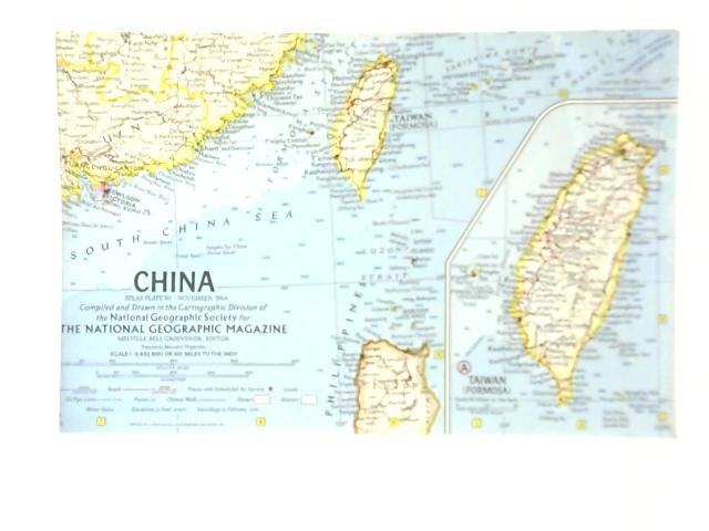 China National Geographic Magazine Map By Unstated