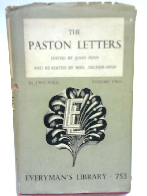 The Paston Letters Volume 2 By Anon