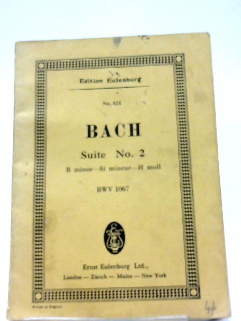 Suite Nr 2 B Minor for Flute, 2 Violins, Viola and Continuo By Johann Sebastian Bach