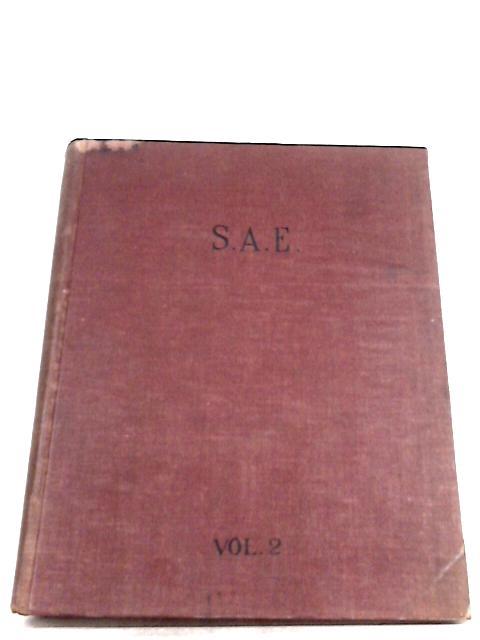 S. A. E. Journal: January 1939 Vol. 44 No. 1 to Vol. 45 No. 6