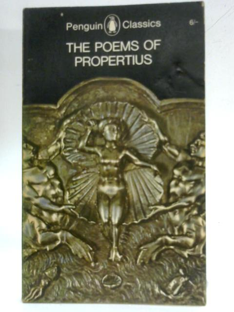 The Poems of Propertius By A.E. Watts (trans.)