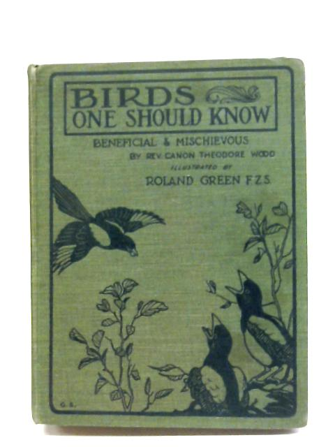 Birds One Should Know By C. Theodore Wood