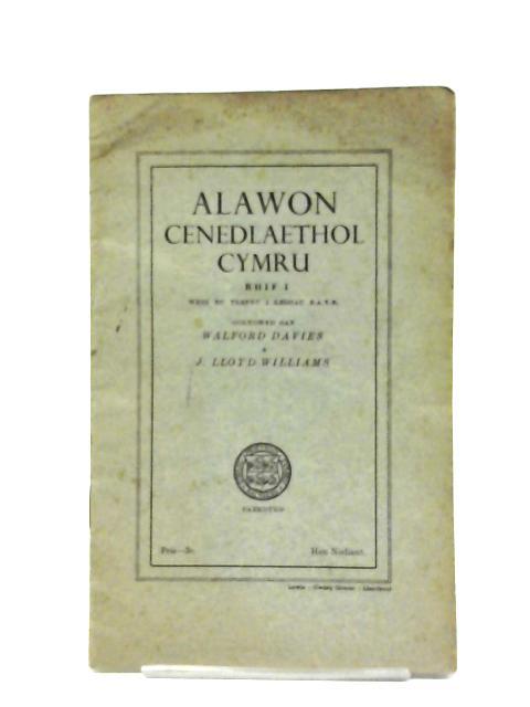 Alawon Cenedlaethol Cymru - Rhif I By W. Davies & J. L. Williams