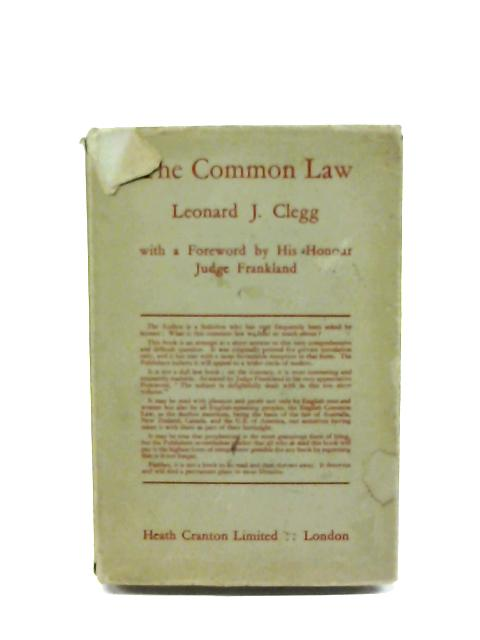 The Common Law By Leonard J. Clegg