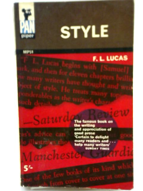 Style By F. L. Lucas