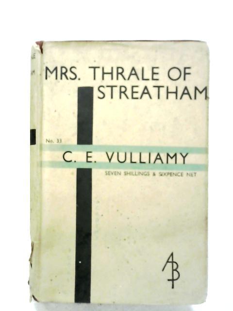 Mrs. Thrale Of Streatham By C. E. Vulliamy