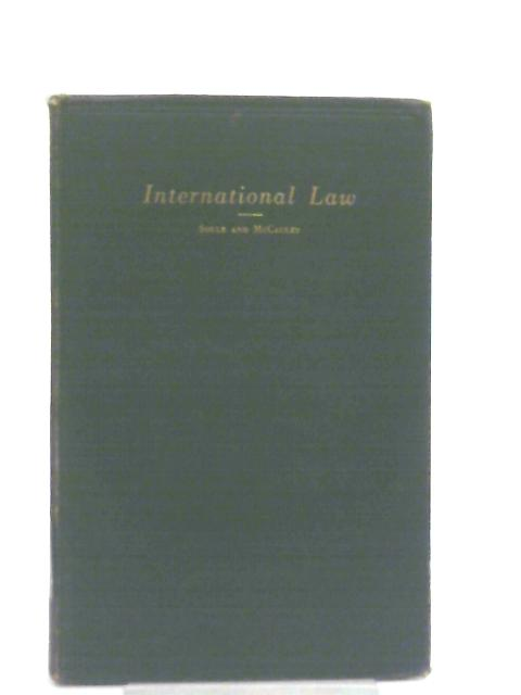 International Law for Naval Officers By C. C. Soule