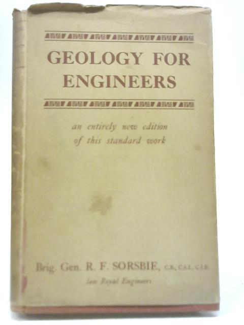 Geology for Engineers By R F Sorsbie