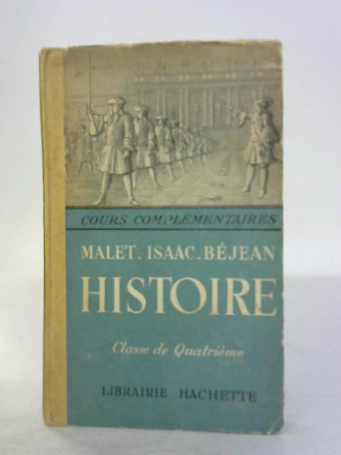 L'Ancien Regime et la Revolution by Jules Isaac and Henri Bejean