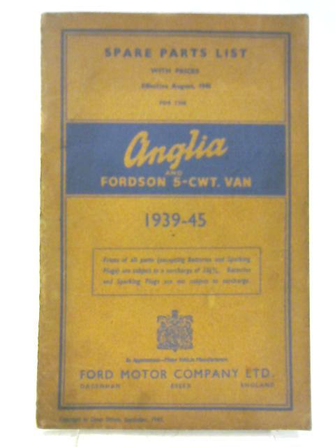 Spare Parts With Prices For The Anglia