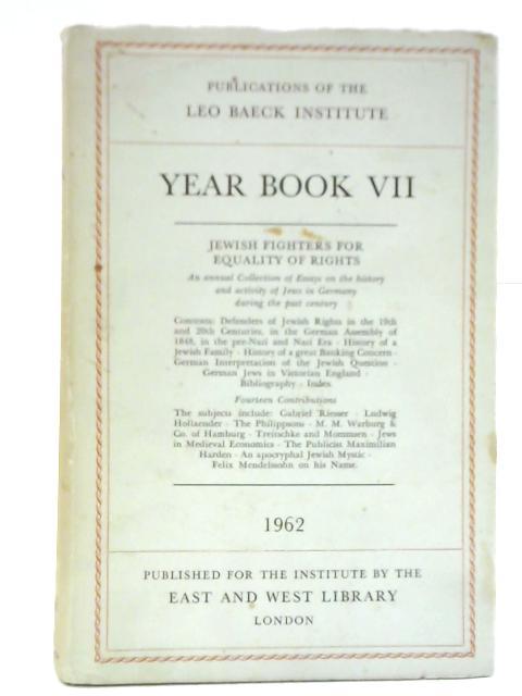 Year Book VII by Leo Baeck Institute