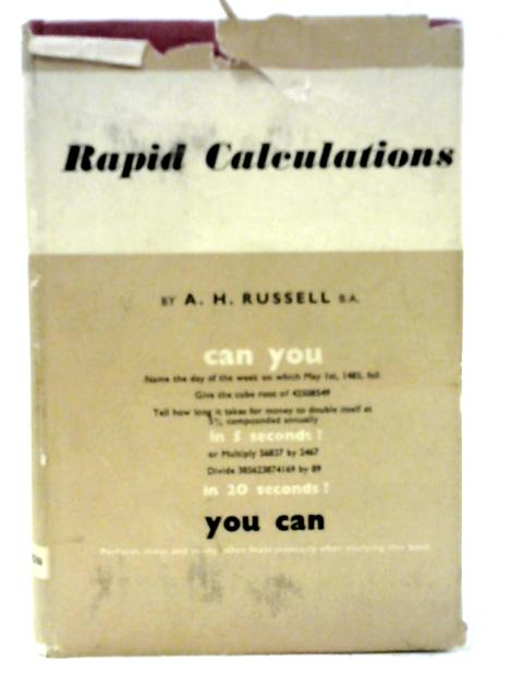 Rapid Calculations by A. H Russell