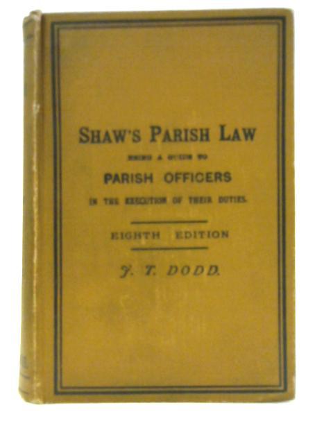 Shaw's Parish Law by J F. Archbold