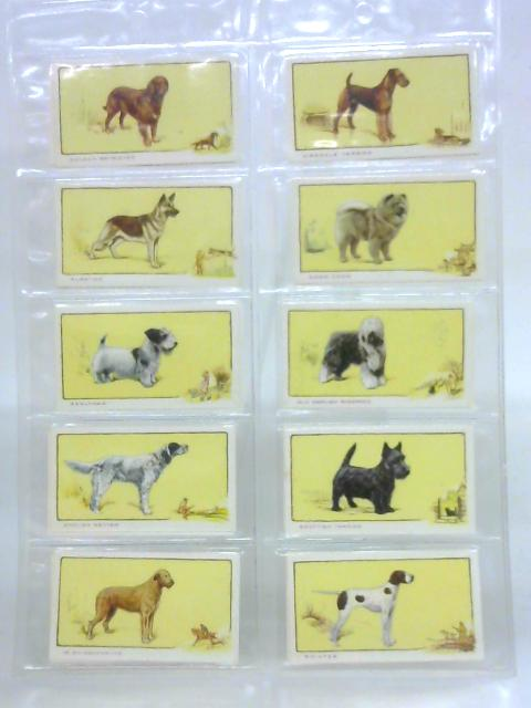 Dogs - complete set of 24 illustrated cigarette cards by Anon