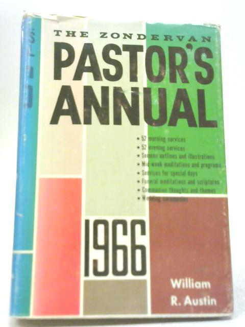 The Zondervan Pastor's Annual By William Austin