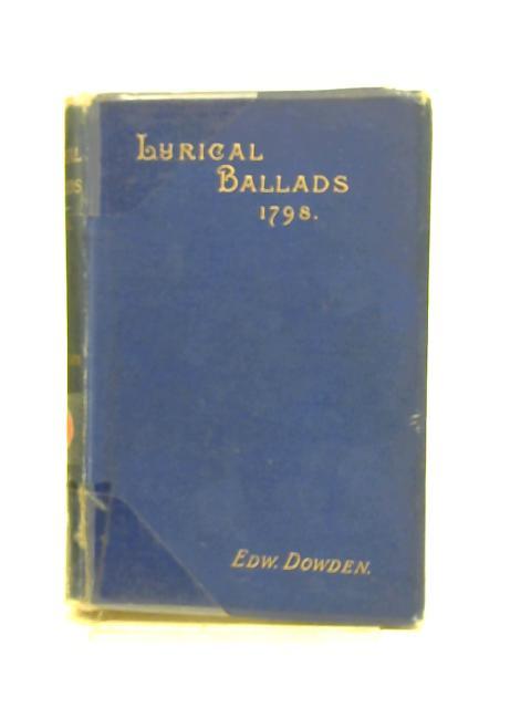 Lyrical Ballads By Edward Dowden