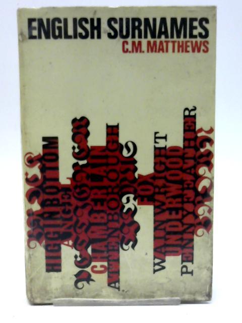 English surnames By C. M Matthews