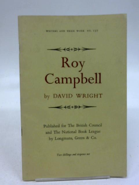 Roy Campbell by David Wright
