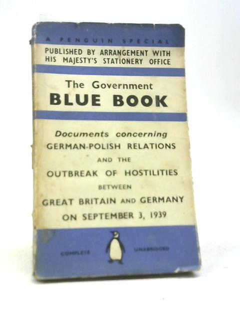 The Government Blue Book By Anon