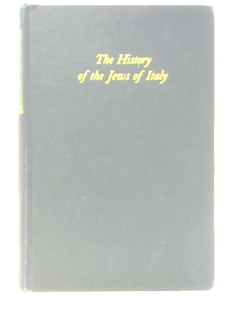 The History of the Jews in Italy By Cecil Roth