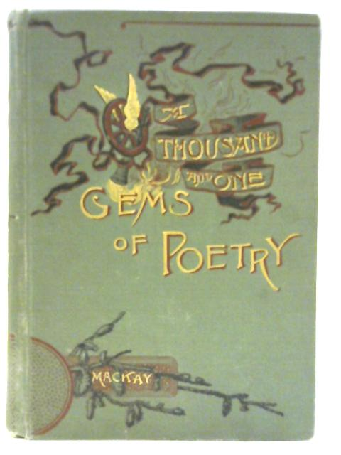 A Thousand and One Gems of English Poetry By Charles Mackay