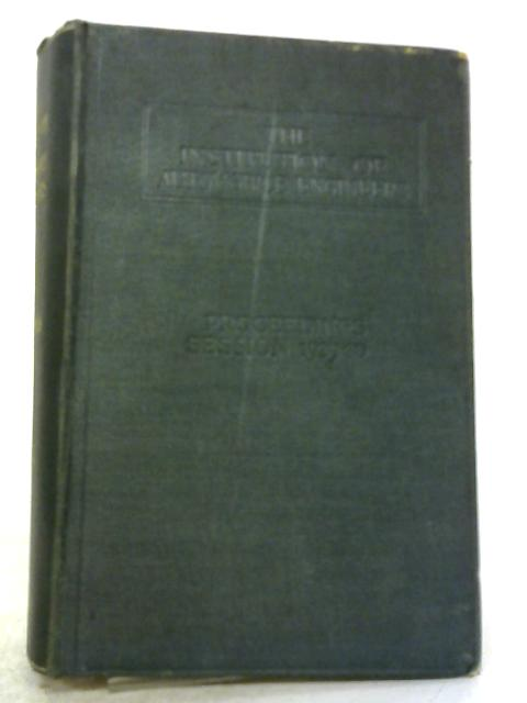 Proceedings of the Session 1929-30 Volume XXIV By Anonymous