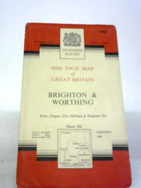 Ordnance Survey One-Inch Map of Brighton and Worthing By Anon
