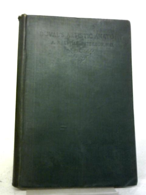 Duval's Artistic Anatomy By A. Melville Paterson