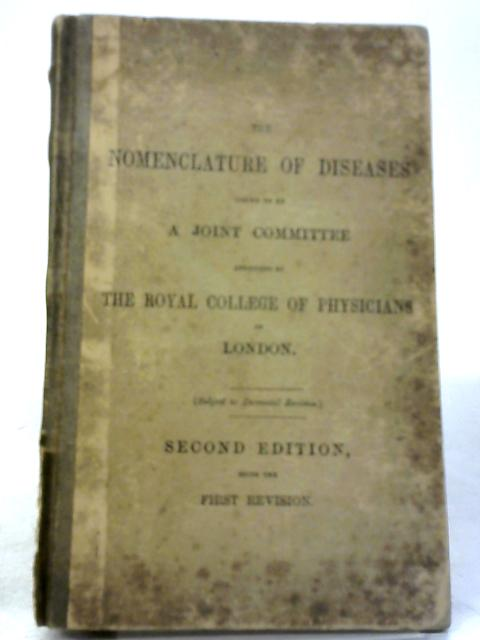 The Nomenclature of Diseases By Various